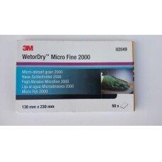 3M™ Popierius šlapiam šlifavimui P2000, 138x230mm (50 vnt.)