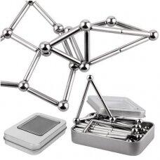 8MM Magnetiniai rutuliai – Sidabrinis