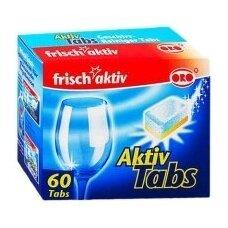 Indaplovių tabletės ORO Frish Aktiv, 60 vnt.