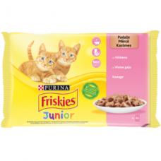 Konservuotas kačių ėdalas FRISKIES, kačiukams, su padažu, 4 x 85 g
