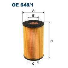 Alyvos filtras FILTRON OE 648/1