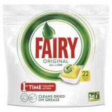 Automatinių indaplovių kapsulės FAIRY All in 1 Lemon, 22 vnt.