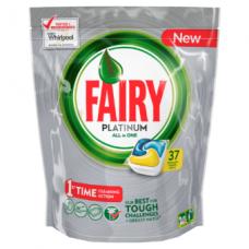 Automatinių indaplovių kapsulės FAIRY All in 1 Platinum Lemon, 37 vnt.