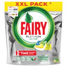 Automatinių indaplovių kapsulės FAIRY All in 1 Platinum Lemon, 70 vnt.