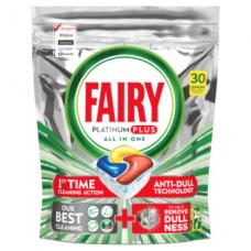Automatinių indaplovių kapsulės FAIRY All in 1 Platinum Plus Lemon, 30 vnt.