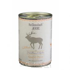 DR. CLAUDER'S BARF mėsos ir daržovių konservai šunims su elniena 400g