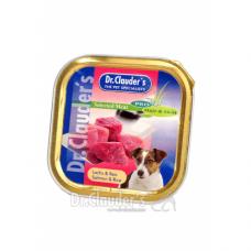 DR. CLAUDER'S drėgnas maistas suaugusiems šunims su lašiša ir ryžiais odai ir kailiui