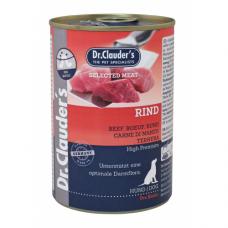 DR. CLAUDER'S drėgnas maistas šunims su jautiena ir prebiotikais 400g