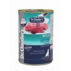 DR. CLAUDER'S drėgnas maistas šunims su žvėriena ir prebiotikais 400g