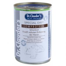 DR. CLAUDER'S Special Diet Low Protein specializuotas drėgnas maistas inkstų problemų turintiems šunims 400g