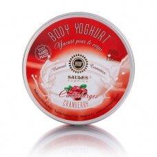 """Drėkinamasis kūno jogurtas """"CRANBERRY"""" Saules Fabrika, 200 g"""