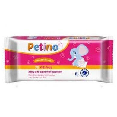 """Drėgnos servetėlės vaikams """"PETINO"""", 72+12vnt."""