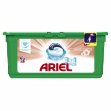 Gelinės skalbimo kapsulės ARIEL Sensitive, 28 skalbimai, 28 vnt.
