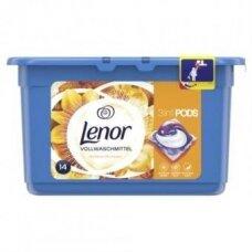 Gelinės skalbimo kapsulės LENOR Gold Orchid, 14 skalbimų, 14 vnt.