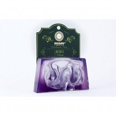 """Rankų darbo muilas """"lavender"""" Saules Fabrika, 80 g"""