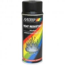 Karščiui atsparūs dažai juodi MOTIP +800°C 400 ml