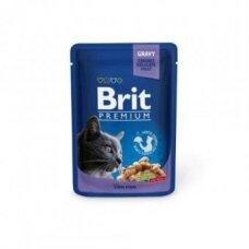 Konservuotas kačių ėdalas BRIT PREMIUM, Cod fish, 100 g