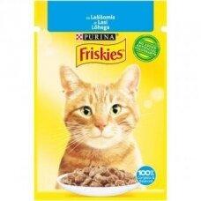 Konservuotas kačių ėdalas FRISKIES, su lašiša, 85 g