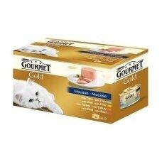 Konservuotas paštetas katėms GOURMET Gold, 4 x 85 g