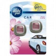 Oro gaiviklis automobiliams AMBI PUR Car Flowers&Spring 2X2 ml