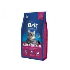 Sausas ėdalas katėms BRIT Cat Adult Chicken, 1,5 kg