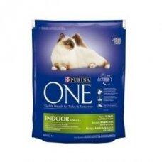 Sausas ėdalas katėms ONE Indoor, 800 g