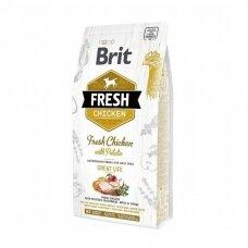 Sausas ėdalas šunims BRIT Fresh Chicken with Potato Adult, 12 kg