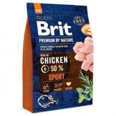Sausas ėdalas šunims BRIT PREMIUM By Nature Sport, 3 kg