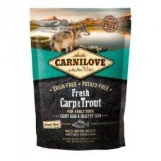 Sausas ėdalas šunims CARNILOVE Fresh Carp and Trout for Adult,1,5 kg