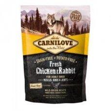 Sausas ėdalas šunims CARNILOVE Fresh Chicken&Rabbit for Adult 1,5 kg