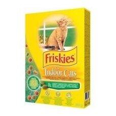 Sausas kačių ėdalas FRISKIES Indoor, su žole, 300 g