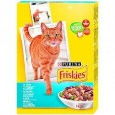 Sausas kačių ėdalas FRISKIES, su lašiša, daržovėmis, 1 kg