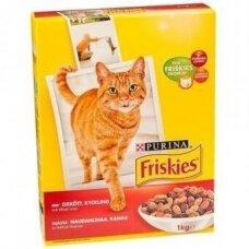 Sausas kačių ėdalas FRISKIES, su vištiena, daržovėmis, 1 kg