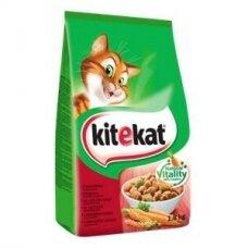 Sausas kačių ėdalas KITEKAT, su jautiena ir daržovėmis, 1,8 kg