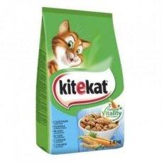 Sausas kačių ėdalas KITEKAT, su tunais ir daržovėmis, 1,8 kg