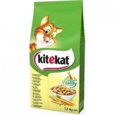 Sausas kačių ėdalas KITEKAT, su vištiena, 12 kg