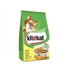 Sausas kačių ėdalas KITEKAT, su vištiena ir daržovėmis, 1,8 kg
