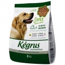 Sausas visavertis ėdalas šunims KĖGRUS Economy, 3 kg