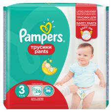 Sauskelnės PAMPERS Pants, CP, 3 dydis, 6 -11 kg, 26 vnt.