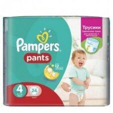 Sauskelnės PAMPERS Pants, CP, 4 dydis, 9 - 15 kg, 24 vnt.