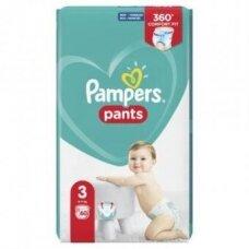 Sauskelnės PAMPERS Pants, JP, 3 dydis 6 - 11 kg, 60 vnt.