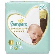 Sauskelnės PAMPERS Premium Care, Value Pack 1 dydis, 78 vnt.