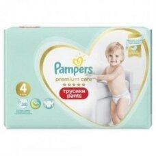 Sauskelnės PAMPERS Premium Pants, Value Pack,4 dydis, 38 vnt.