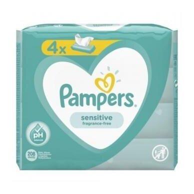 Servetėlės PAMPERS Sensitive,4x52vnt