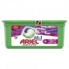 Skalbimo kapsulės Ariel Complete, 24vnt