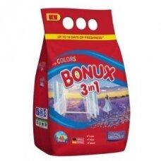 Skalbimo milteliai BONUX Color, Caring Lavender, 3kg./40sk