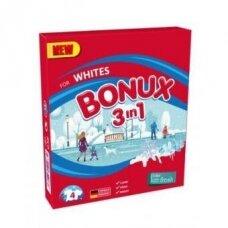 Skalbimo milteliai BONUX White, Polar Ice Fresh, 4 skalb./300g.