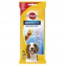 Šunų skanėstai PEDIGREE Dentastix vidutiniams šunims 3vnt., 77g