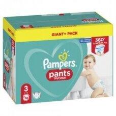 Užmaunamos kelnaitės PAMPERS PANTS Giant Pack Plus, 3 dydis, 6-10 kg, 86vnt.