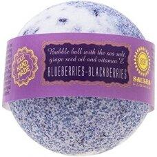 """Vonios bomba """"Blueberries and blackberries"""" Saules Fabrika, 145 g"""